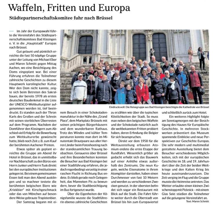 Waffeln, Fritten und Europa